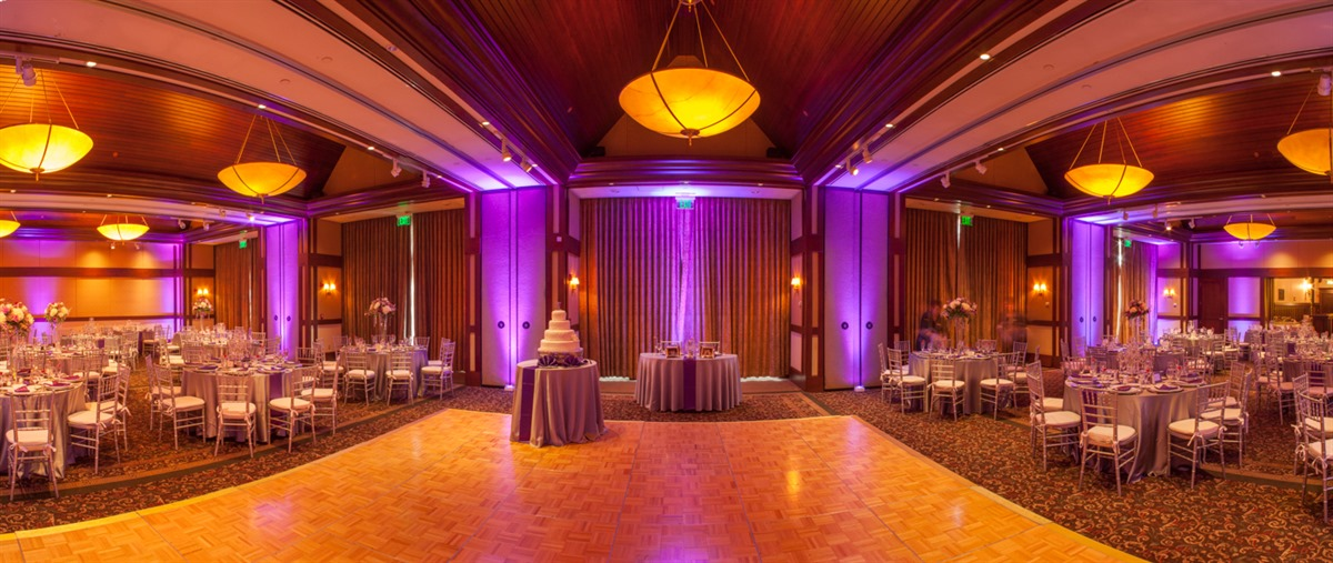 special event lighting at beechwood hotel in worcester ma