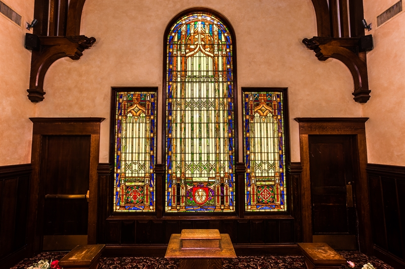 iconic stained glass maria gill wilson chapel in worcester ma