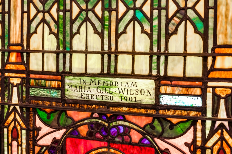maria gill wilson chapel's beautiful stained glass window art